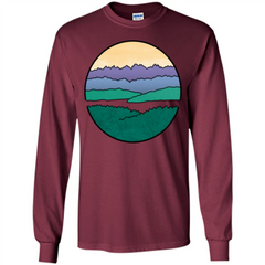 Mountains Over The Sound T-shirt LS Ultra Cotton Tshirt - WackyTee