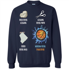 Baskettball T-shirt Nothing Beats Basketball Printed Crewneck Pullover Sweatshirt 8 oz - WackyTee