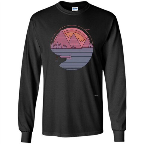 The Mountains Are Calling I Must Go T-shirt Black / S LS Ultra Cotton Tshirt - WackyTee