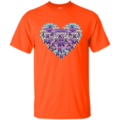 Boxer Dog Heart Mosaic Dog Lover T-shirt Custom Ultra Cotton - WackyTee