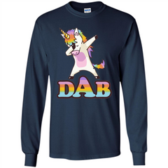Cute Unicorn Dabbing T-shirt LS Ultra Cotton Tshirt - WackyTee