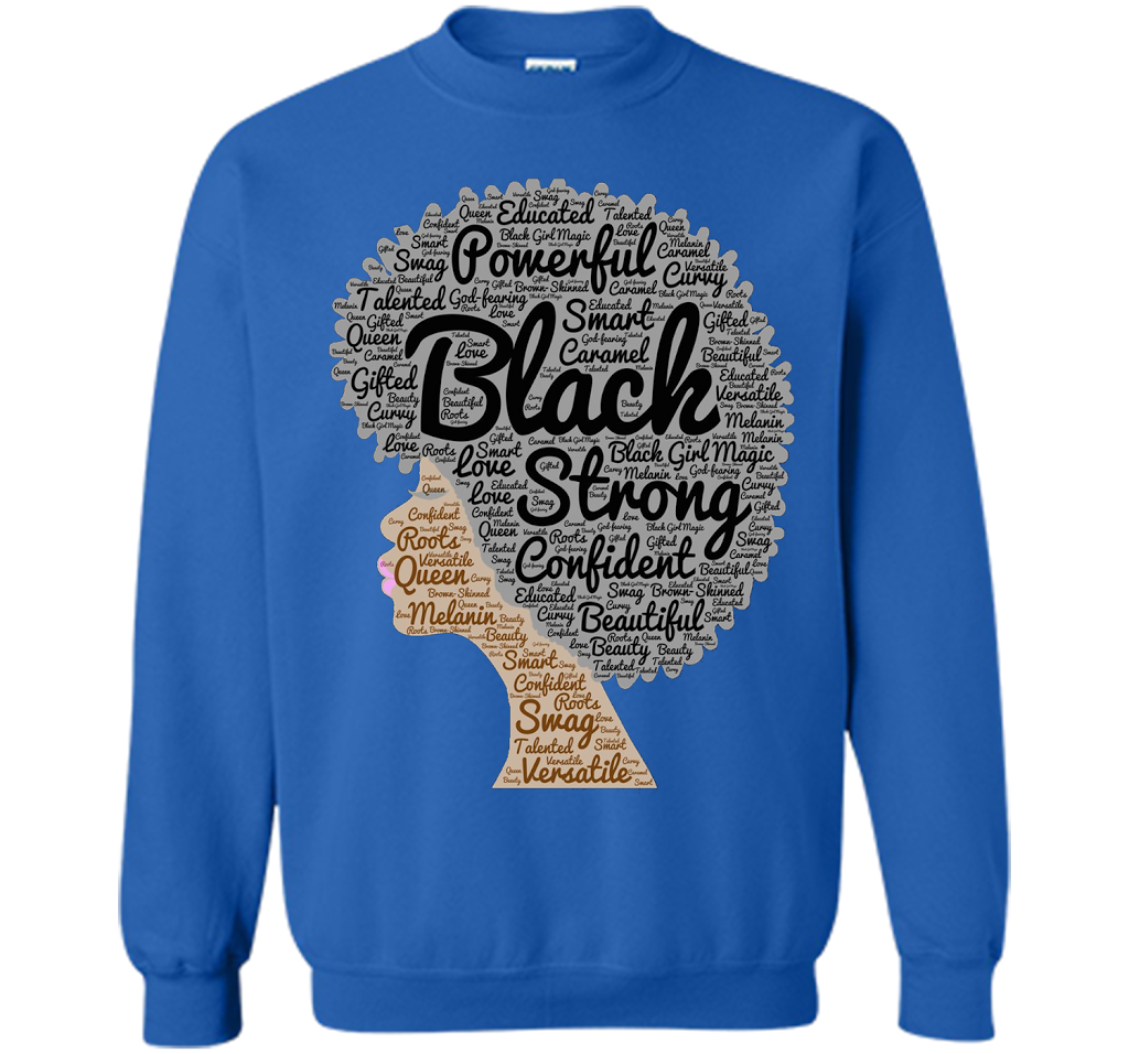 a8be40a1e Afro Word Art Natural Hair T-Shirt for Black Women shirt Printed Crewneck  Pullover Sweatshirt