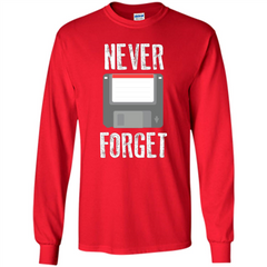 Never Forget Floppy Disk Vintage Computer T-shirt LS Ultra Cotton Tshirt - WackyTee
