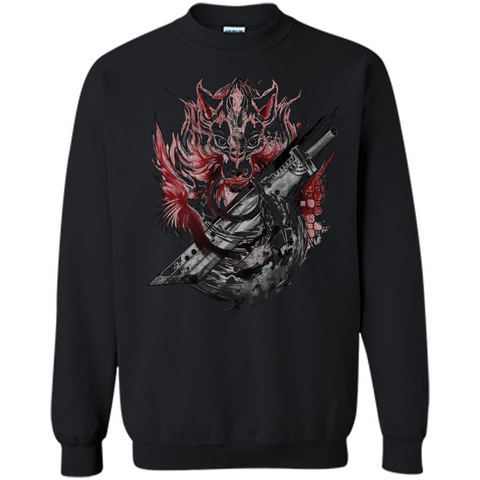 Final Fantasy Amano Homage T-shirt Black / S Printed Crewneck Pullover Sweatshirt 8 oz - WackyTee