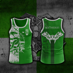 Quidditch Slytherin Harry Potter 3D Tank Top