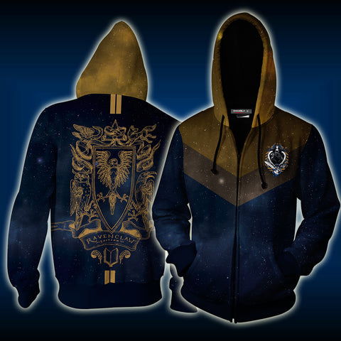 Ravenclaw Edition Harry Potter New Zip Up Hoodie