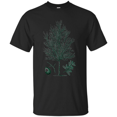 Oak Tree T-Shirt. Tree Acorn Oak Tree T-shirt Black / S Custom Ultra Tshirt - WackyTee