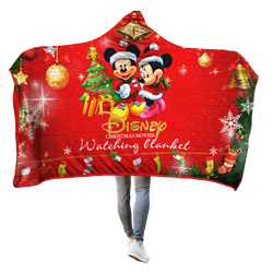 Disney Cartoon Characters 3D Hooded Blanket