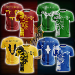 Quidditch Hufflepuff Harry Potter Unisex 3D T-shirt Fullprinted Unisex 3D T-shirt - WackyTee