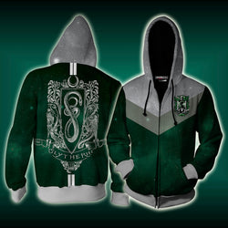 Slytherin Edition Harry Potter New Zip Up Hoodie