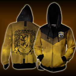 Hufflepuff Edition Harry Potter New Zip Up Hoodie