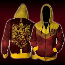 Gryffindor Edition Harry Potter New Zip Up Hoodie