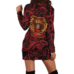 Brave Like A Gryffindor Harry Potter 3D Hoodie Dress Fullprinted Hoodie Dress - WackyTee