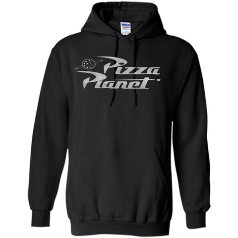 Pizza Planet T-shirt Black / S Pullover Hoodie 8 oz - WackyTee