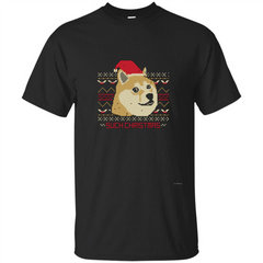 Funny Christmas Dog Lover T-shirt Such Christmas Custom Ultra Tshirt - WackyTee