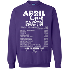 April Guy Facts T-shirt Printed Crewneck Pullover Sweatshirt 8 oz - WackyTee