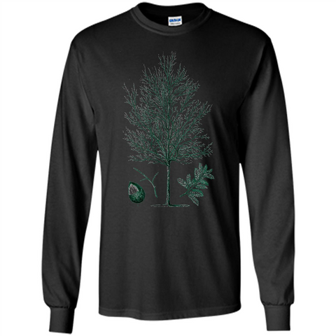 Oak Tree T-Shirt. Tree Acorn Oak Tree Woodsman T-shirt Black / S LS Ultra Cotton Tshirt - WackyTee