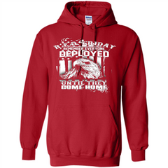 Military T-shirt Red Friday Until They Com Home Pullover Hoodie 8 oz - WackyTee