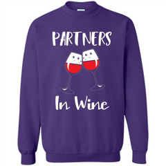 Wine Party T-shirt Partners In Wine T-shirt Printed Crewneck Pullover Sweatshirt 8 oz - WackyTee