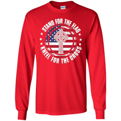 Stand For The Flag Knell For The Cross T-shirt LS Ultra Cotton Tshirt - WackyTee
