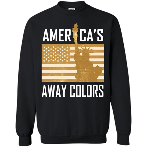 America's Away Colors T-shirt Black / S Printed Crewneck Pullover Sweatshirt 8 oz - WackyTee
