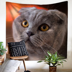 Cute Cat Bedroom 3D Tapestry