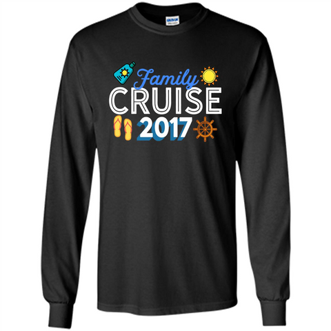 Family T-shirt Family Cruise 2017 Black / S LS Ultra Cotton Tshirt - WackyTee