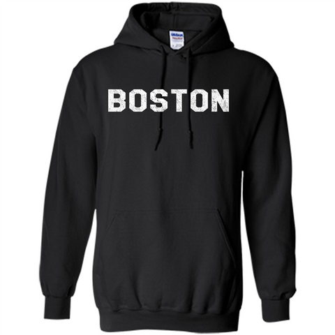 Boston T-Shirt Love Boston Black / S Pullover Hoodie 8 oz - WackyTee