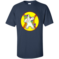 Unicorn Dabbing Softball T-shirt Custom Ultra Cotton - WackyTee
