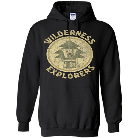 Wilderness Explorer T-shirt Black / S Pullover Hoodie 8 oz - WackyTee