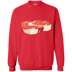 Steak T-shirt Printed Crewneck Pullover Sweatshirt 8 oz - WackyTee