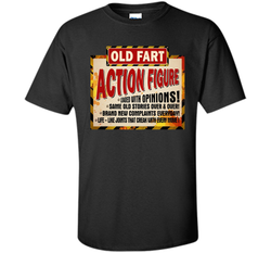 Old Fart Life Sized Action Figure T-shirt