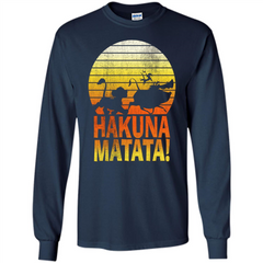 Cartoon T-shirt The Lion King Hakuna Matata LS Ultra Cotton Tshirt - WackyTee