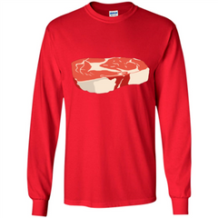 Steak T-shirt LS Ultra Cotton Tshirt - WackyTee