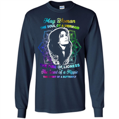 May Woman T-shirt The Heart Of A Hippie LS Ultra Cotton Tshirt - WackyTee