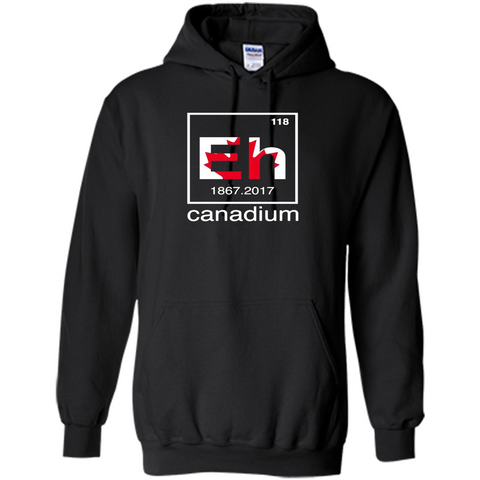 Funny Canadian T-shirt Canada Element Eh - 150 years T-Shirt Black / S Pullover Hoodie 8 oz - WackyTee