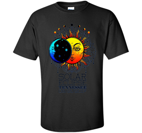 Tennessee Total Solar Eclipse Tennessee Ancient Tshirt Black / S Custom Ultra Cotton - WackyTee