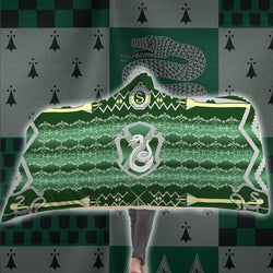 The Cunning Slytherin Harry Potter 3D Hooded Blanket