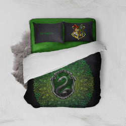Hogwarts House Slytherin Harry Potter Bed Set