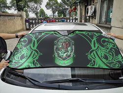 Cunning Like A Slytherin Harry Potter Auto Sun Shade