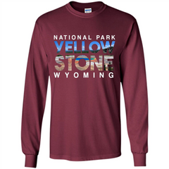 National Park Yellowstone Yellow Stone Photo Wyoming T-shirt LS Ultra Cotton Tshirt - WackyTee