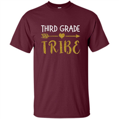 Third Grade Tribe T-shirt School Day T-shirt Custom Ultra Cotton - WackyTee
