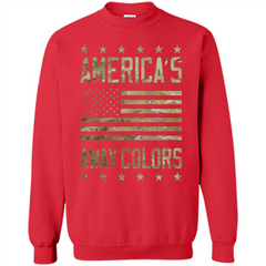 America's Away Colors T-shirt Printed Crewneck Pullover Sweatshirt 8 oz - WackyTee