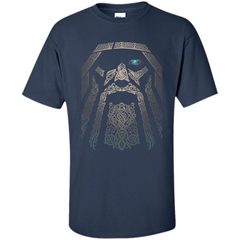 Odin-Vikings Valhalla T-shirt Custom Ultra Cotton - WackyTee