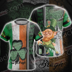 Irish Erin Go Bragh Saint Patricks Day Unisex 3D T-shirt