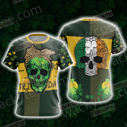 Skull Patricks Day Unisex 3D T-shirt