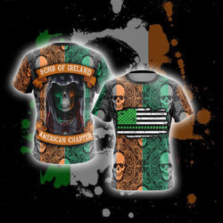 Sons Of Ireland American Chapter Happy Saint Patrick's Day Unisex 3D T-shirt