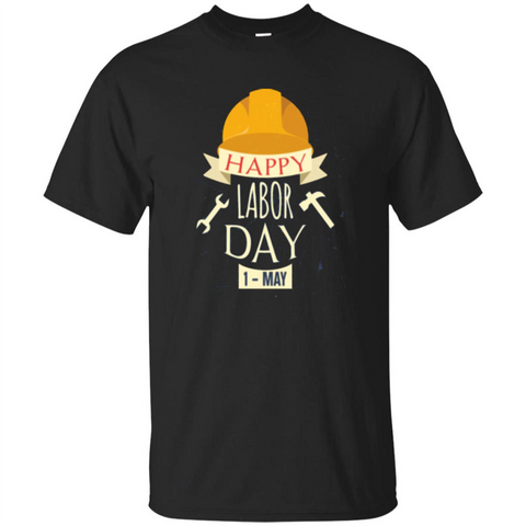 Happy Labor Day T-shirt Black / S Custom Ultra Tshirt - WackyTee