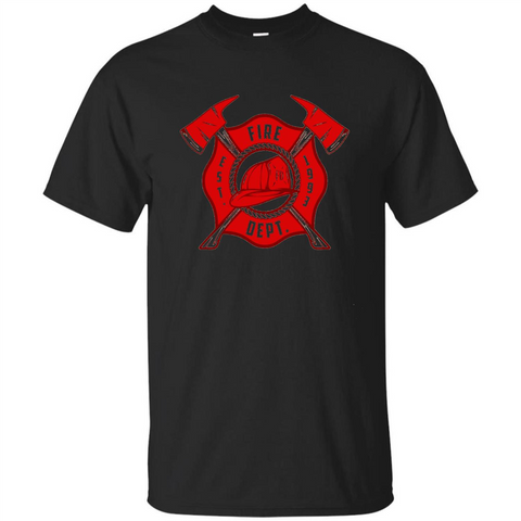 Fire Department Est 1993 T-shirt Black / S Custom Ultra Tshirt - WackyTee