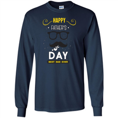 Happy Fathers Day T-shirt Best Dad Ever LS Ultra Cotton Tshirt - WackyTee